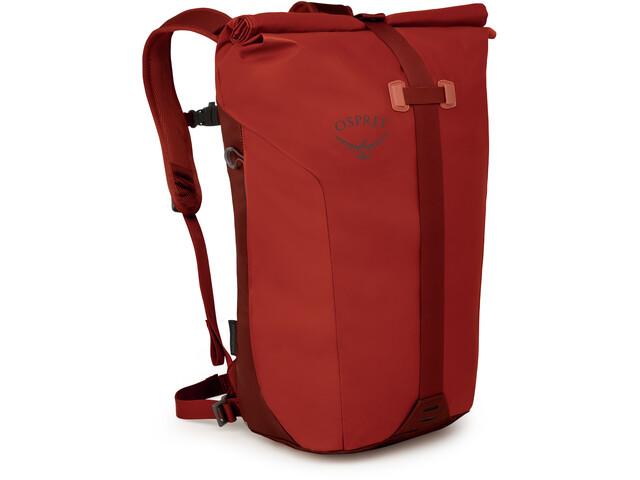 Osprey Transporter Roll Sac à dos, ruffian red